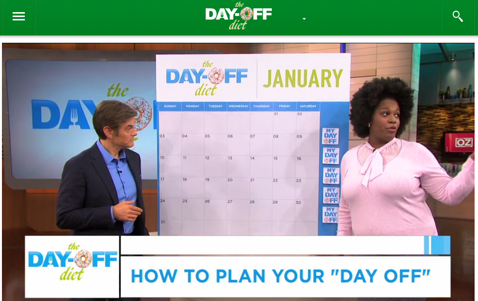 As Seen On: The Dr. Oz Show – The Day Off Diet! | Full Figured ...