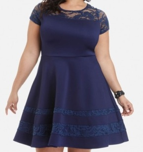 FTF Blue Dress Crop